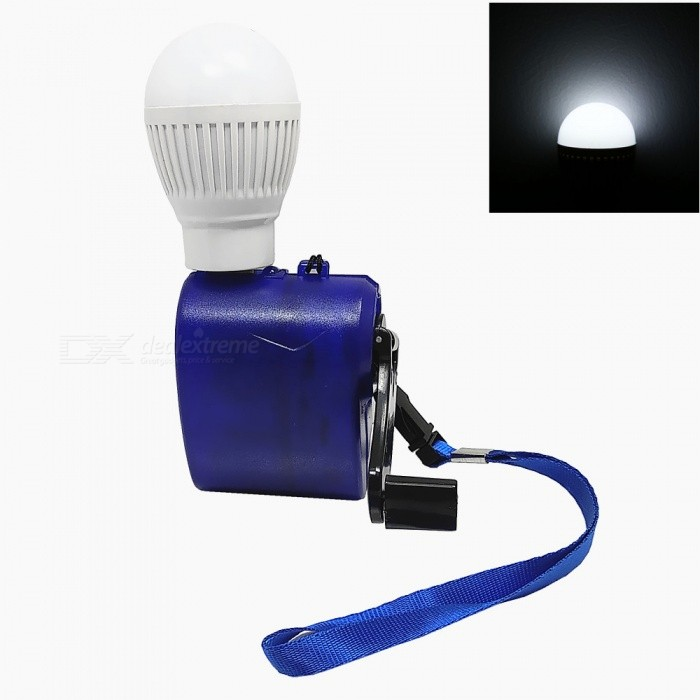 Buy 5V Emergency Hand-Cranked Charger + USB LED Set for Blackout / Outdoor Emergency - Blue + White with Litecoins with Free Shipping on Gipsybee.com