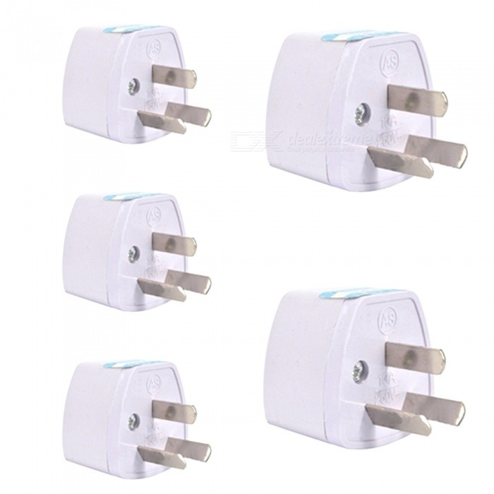 ZHAOYAO 5Pcs 250V 10A Travel Power Adaptor, Universal