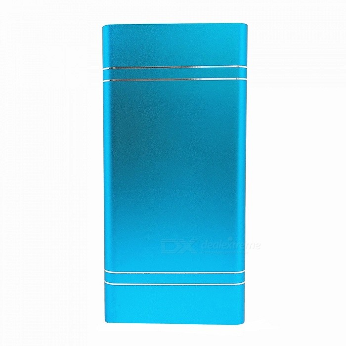 Aluminum Alloy 10000mAh 5V 2A Polymer Mobile Power Bank, Support Quick Charging - Blue for sale in Bitcoin, Litecoin, Ethereum, Bitcoin Cash with the best price and Free Shipping on Gipsybee.com
