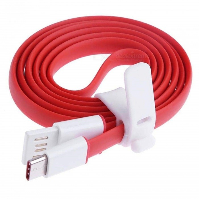 Fast Charge 1m Type-C USB Data Cable for Oneplus/ Oneplus 5t/ OnePlus 3 Xiaomi Huawei Samsung - Red