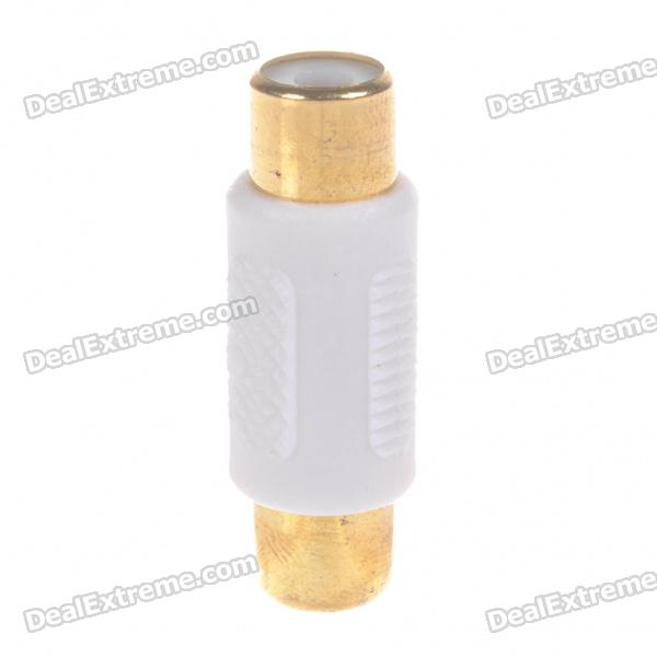 Gold Plated RCA Female to RCA Female Adapter - White