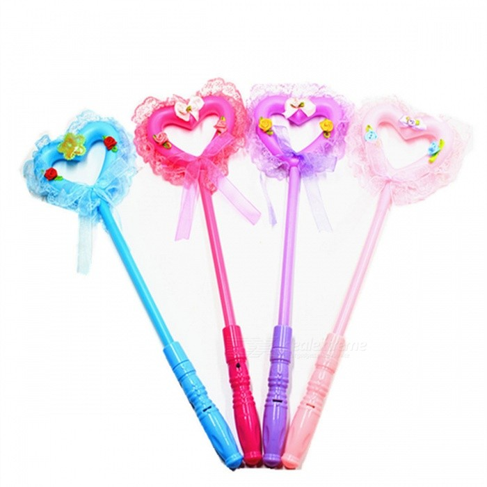 Buy 9x4x7cm Lovely Magic Party Xmas Halloween LED Heart Sticks Flashing Lights Up Glow Sticks For Kids Toy Novelty Gift RGB/Sky Blue/0-5W with Litecoins with Free Shipping on Gipsybee.com