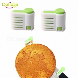 2pcs/lot 5 Layers Bread Slicer Food-Grade Plastic Cake Bread Cutter 5 Levers Cutting Bread Knife Splitter Toast Slicer Green
