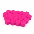 CARKING 20Pcs Luminous Car Wheel Lug Nut Bolt Hub Screw Cover, Protective Cap - Pink