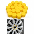 CARKING 20Pcs 19mm Luminous Car Wheel Lug Nut Bolt Hub Screw Cover, Protective Cap - Yellow