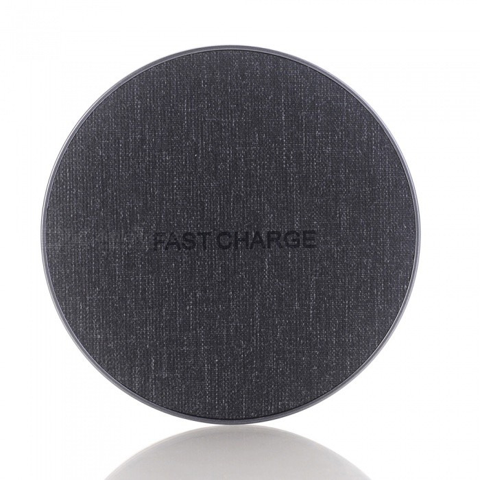 Qi Fast Charger, Wireless Charging Pad for IPHONE X / 8 / 8 Plus / Galaxy S9 S8 - Black