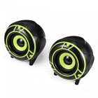 A12-Small-USB-20-Double-Bass-Speaker-for-Laptop-Computer-Green-(2-PCS)