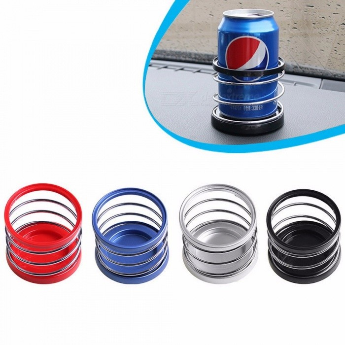 SHUNWEI Car Dashboard Cup Holder Car Beverage Spring Drink Rack Bottle Drinks Holder Silver for sale in Bitcoin, Litecoin, Ethereum, Bitcoin Cash with the best price and Free Shipping on Gipsybee.com