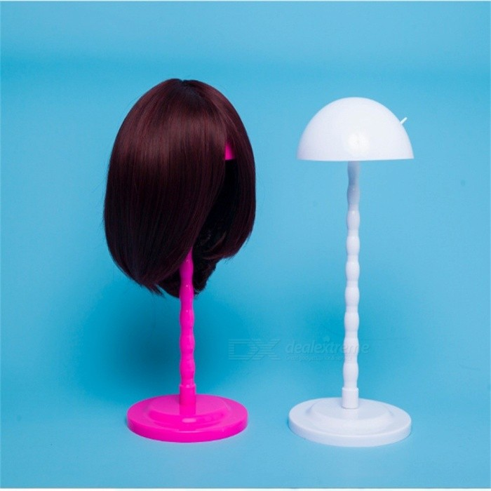 Economy Plastic DIY Wig Stand, Stable Portable Folding Stand Holder For Wig / Toupee / Hat Display Pink for sale in Bitcoin, Litecoin, Ethereum, Bitcoin Cash with the best price and Free Shipping on Gipsybee.com