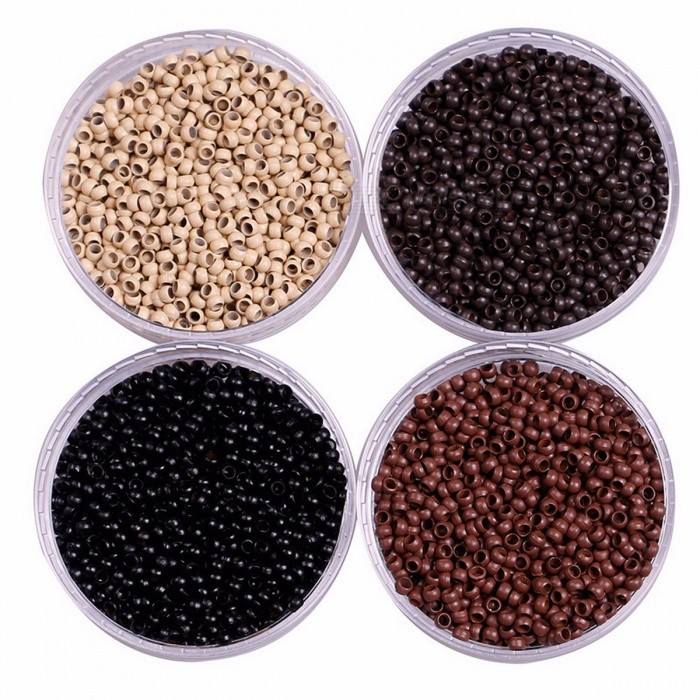 1000Pcs 2.5mm Micro Nano Ring Beads For Hair Extensions Dark Brown