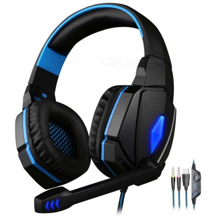 Kotion EACH G4000 Computer Stereo Gaming Headphones Deep Bass Game Earphone Headset With Mic LED Light