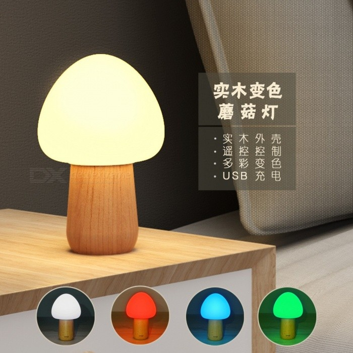 Buy Novelty Induction Nightlight Dream Mushroom Fungus LED Night Light Lamp Color Changing RGB/White with Litecoins with Free Shipping on Gipsybee.com