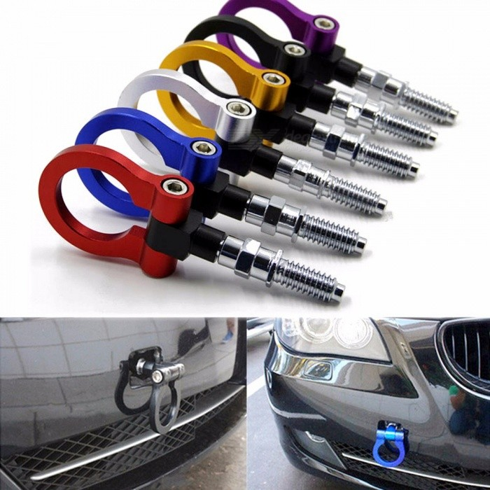 Buy Universal Racing Towing Car Tow Hook Fit For  European Car Auto Trailer Ring Car Accessories Purple with Litecoins with Free Shipping on Gipsybee.com