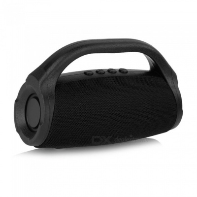 Portable Boom Box Outdoor HIFI Bass Column Speaker Wireless Bluetooth Speaker Subwoofer Sound Box Black/Speaker