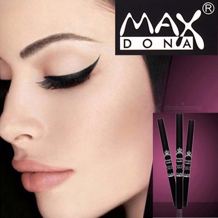 Buy Maxdonas Eyeliner Black Waterproof Long-lasting Liquid Eye Liner Pencil Makeup Tools Cosmetics with Litecoins with Free Shipping on Gipsybee.com