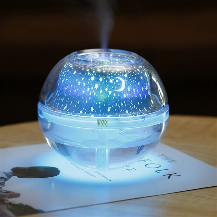 YWXLight-Creative-USB-Crystal-Night-Light-Projection-Humidifier-Silver