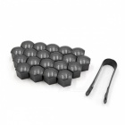 CARKING-20Pcs-21mm-Plastic-Wheel-Lug-Nut-Bolt-Cover-Caps-with-Removal-Tool-for-Car-Gray
