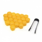 CARKING-20Pcs-17mm-Plastic-Wheel-Lug-Nut-Bolt-Cover-Caps-with-Removal-Tool-for-Car-Yellow