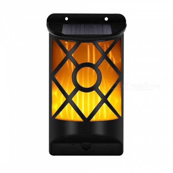 Buy Ismartdigi 0.385W 3.7V 2000mAh 66LED Solar Lamps for Walls Stairs Outdoor Garden Ground - Black with Litecoins with Free Shipping on Gipsybee.com