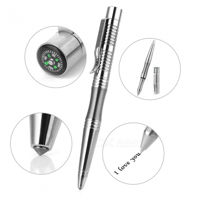 Buy FURA · GEAR TC4Titanium Alloy Black Ink Refill Gel Pen  - Silver with Litecoins with Free Shipping on Gipsybee.com