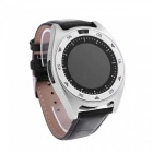 920 Round Screen Smart Watch w/ Step Counter - Silver + Black