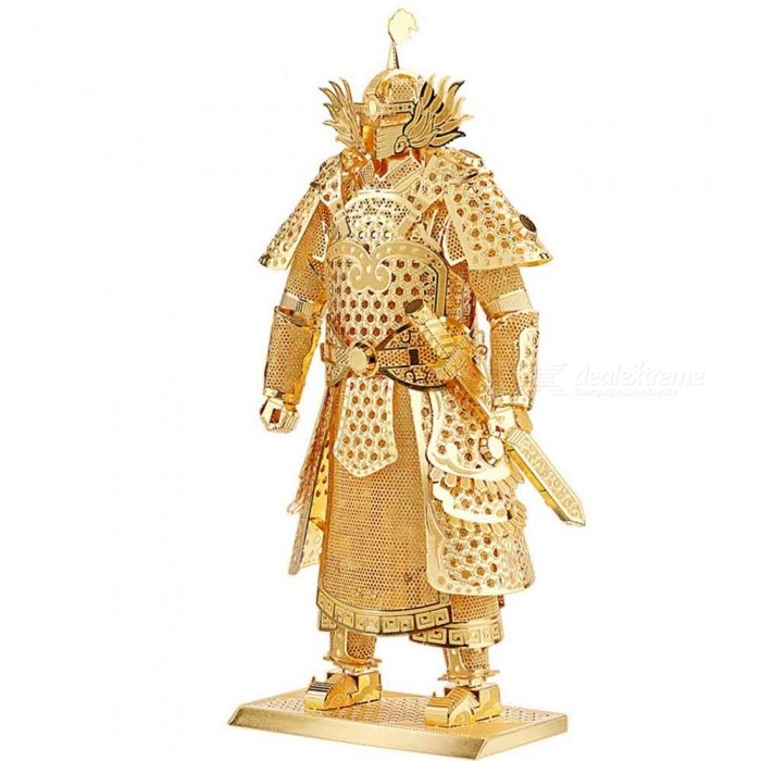 Buy ZHAOYAO DIY 3D Puzzle Metal Toy, Educational Models Brinquedos, Warriors Armor P049-S Orignal Design 3D Puzzle - Gold with Litecoins with Free Shipping on Gipsybee.com