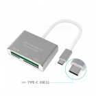 Measy-3-in-1-USB-C-OTG-Hub-Type-C-to-CFSDTF-Card-Reader-for-Macbook-Phone-and-More-USB-C-Devices-Gray