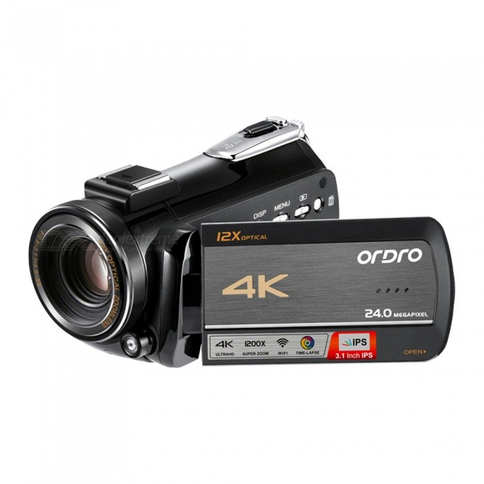 Ordro HDR-AC5 4K UHD 3.1 Inches IPS Screen DV Digital Camcorder