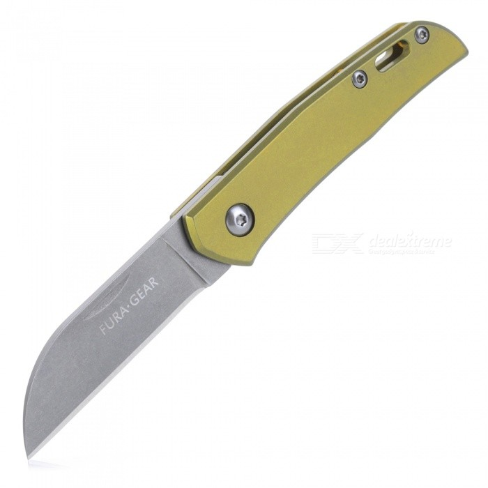 FURA GEAR Titanium Alloy(Handle) + S35VN Powder Steel (Blade) Folding Knife
