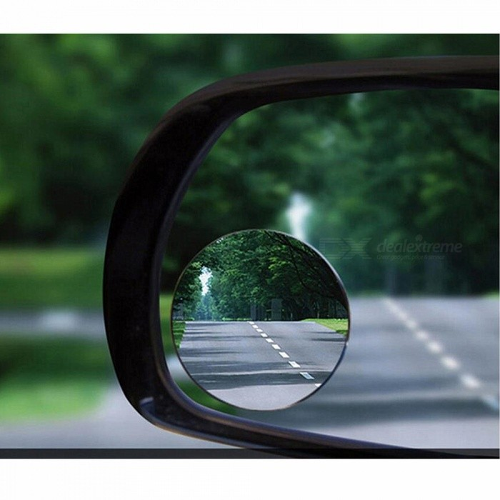 Buy 2Pcs Convex Blind Spot Mirrors for Towing Reversing Driving SELF ADHESIVE Car Van Bikes with Litecoins with Free Shipping on Gipsybee.com