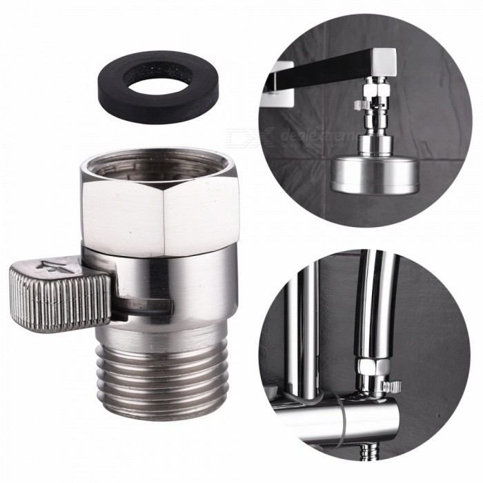 Buy Brass Nickel Fow Control and Shut Off Valve for Shower Head and Shower Arm with Litecoins with Free Shipping on Gipsybee.com