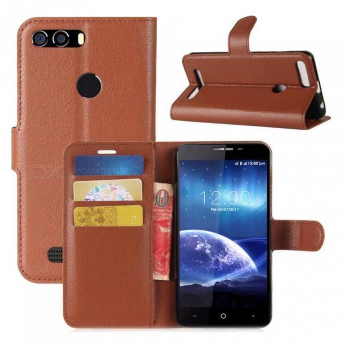 PU Leather Full Cover Wallet Phone Case for Leagoo Kiicaa Power