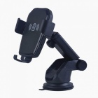 10W Car Fast Wireless Charging Sucker Type Phone Stand for IPHONE / Android Phones - Black