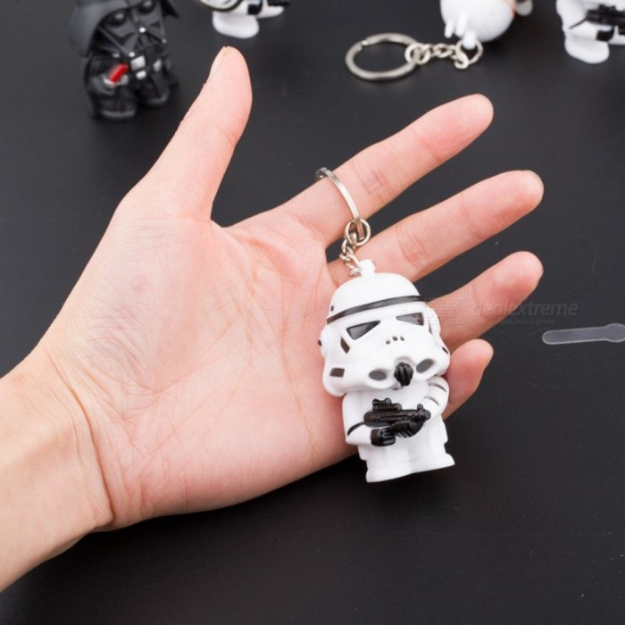 Cute Star Wars White Soldier LED Illuminated Keychain (White Light) for sale in Bitcoin, Litecoin, Ethereum, Bitcoin Cash with the best price and Free Shipping on Gipsybee.com