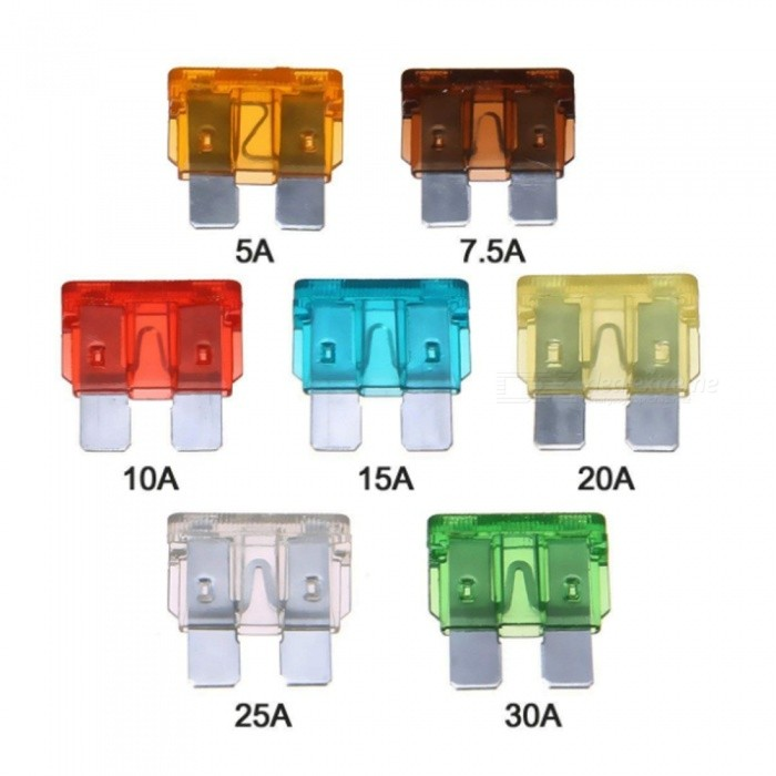 Buy ZHAOYAO 120Pcs Car Blade Fuse Set  + 10 Inline Fuse Holders for Car Truck SUV RV Boat with Litecoins with Free Shipping on Gipsybee.com