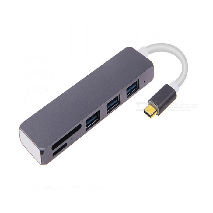 USB-C Hub w/ 3 USB 3.0 Port, SD/TF Card Reader, USB-C Charging (PD) Port for Macbook