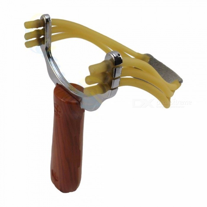 Buy Powerful Steel Alloy Slingshot Sling Shot, Camouflage Bow Catapult, Outdoor Hunting Camping Bow Travel Kit Chocolate with Litecoins with Free Shipping on Gipsybee.com