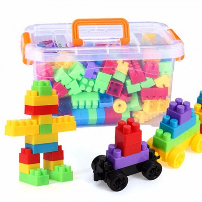 Buy Colorful Non-Toxic Educational Children\'s Toy, Green Plastic Large Particles Building Blocks Multicolor with Litecoins with Free Shipping on Gipsybee.com