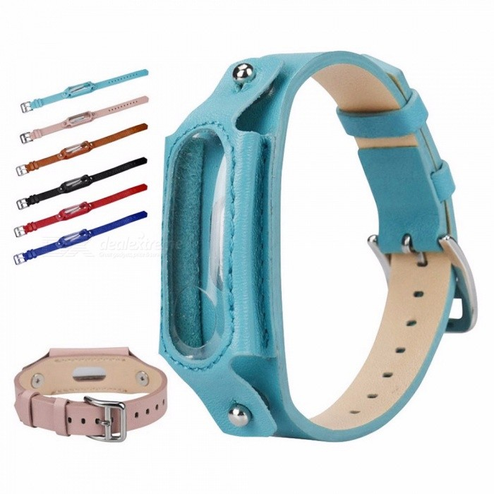 Watch Band For Xiaomi Mi Band 3, Replacement Leather Wristband Band Strap For Xiaomi Mi Band 3 Bracelet