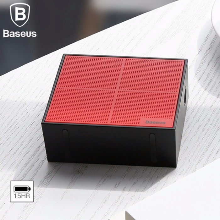 E05 Bluetooth Wireless Speaker, Portable Outdoor Square Bass Sound Box With 15 Hours Super Long Play Time Black/Speaker