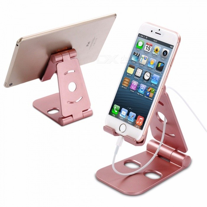 Buy Universal Adjustable Desktop Mobile Phone Bracket, Folding Lazy Phone Holder Stand Silver with Litecoins with Free Shipping on Gipsybee.com