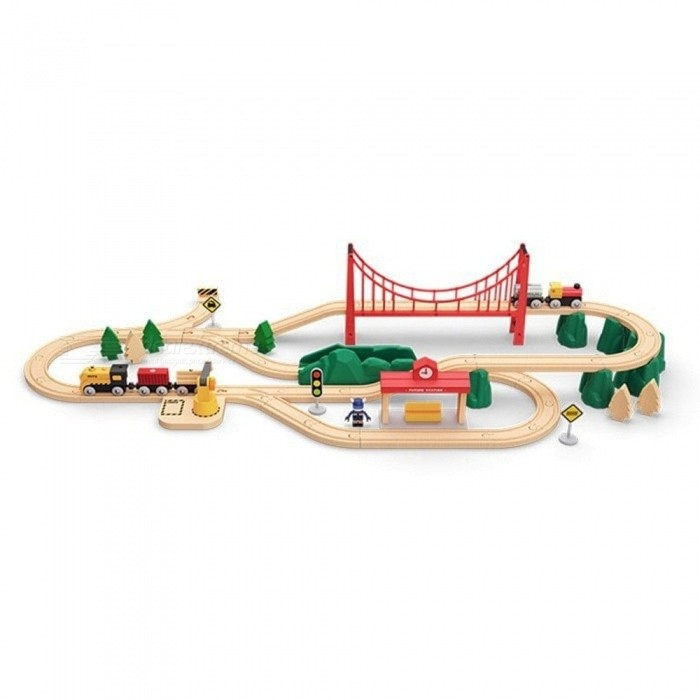 Buy Xiaomi Mitu Wood Track Building Block Electric Train Set Puzzle Toy Education Toys For Kids Multicolor with Litecoins with Free Shipping on Gipsybee.com