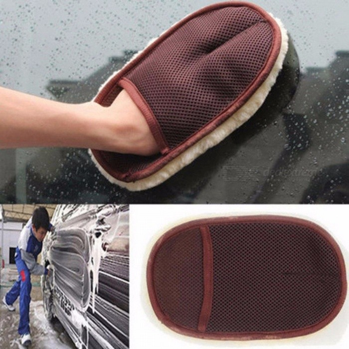 Car Cleaning Brushes Polishing  Brush Super Clean Wool Car Wash Glove Car Cleaning Brush Automobile White