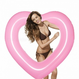 Inflatable Heart Style Swimming Ring Pool Float 120cm Big Mattress Swimming RingsBeach Summer Water Game Party