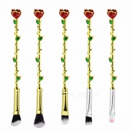Beauty-And-The-Beast-Rose-Gold-Makeup-Brushes-Cosmetic-Brush-Woman-Gift-Eyeshadow-Contour-Concealer-Brush-Set