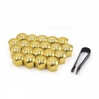 CARKING-20pcs-19mm-Gold-Tone-Plastic-Car-Wheel-Lug-Nut-Bolt-Cover-Caps-with-Removal-Tool