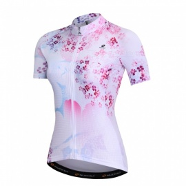 NUCKILY-Pink-Cherry-Blossom-Sun-Protection-Clothing-Women-Summer-Short-sleeved-Road-Bike-Riding-Short-Jersey