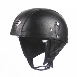 Outdoor Motorcycling Adult Leather Helmets for Motorcycle Retro Half Helmet