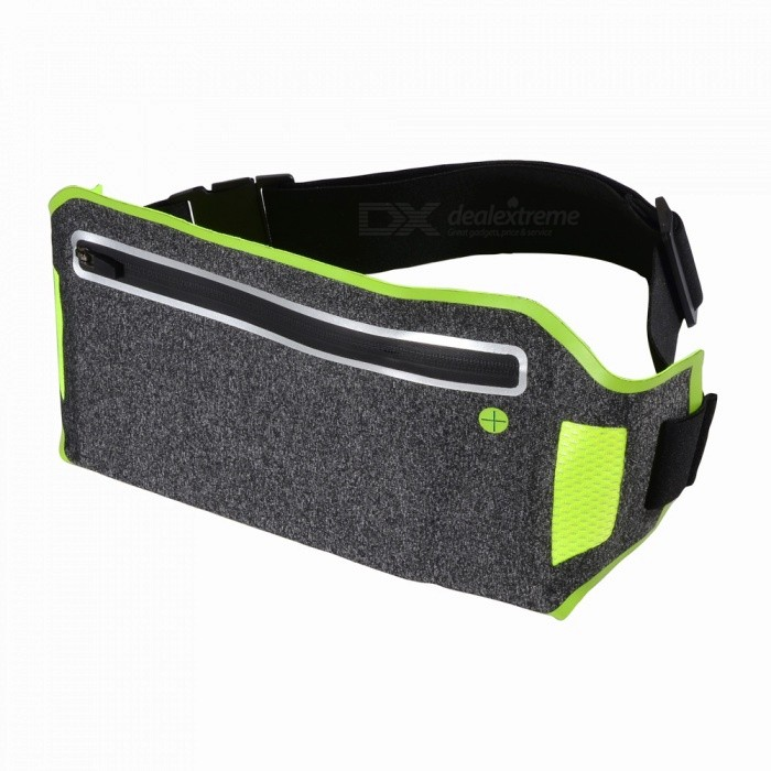 Multifunctional Ultra-thin Waterproof Outdoor Sports Running Mobile Phone Lycra Waist Bag with Adjustable Strap