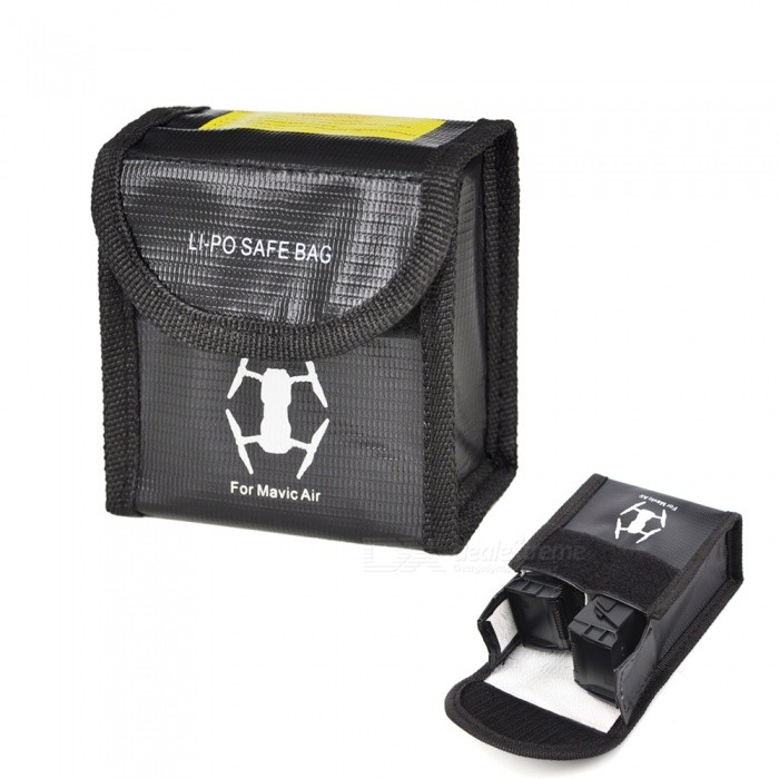 Buy Fireproof Explosionproof Battery Safety Bag for DJI Mavic Air, 95*90*50mm with Litecoins with Free Shipping on Gipsybee.com